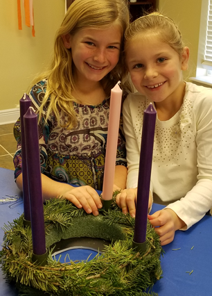 Advent 1: Making Advent Wreaths